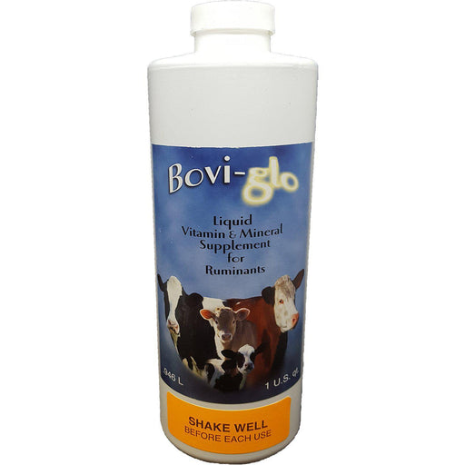 Bovi-glo 946ml Liquid Vitamin & Trace Mineral Supplement for Dairy Cattle - Critter Country Supply Ltd.