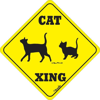 Xing Sign - Cat - Critter Country Supply Ltd.