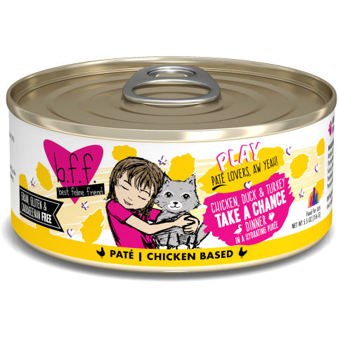 B.F.F. Play GRAIN & GLUTEN FREE Canned Cat Food 5.5oz - Critter Country Supply Ltd.