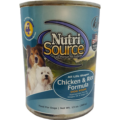 NutriSource® Chicken & Rice Canned Dog Food 13oz - Critter Country Supply Ltd.