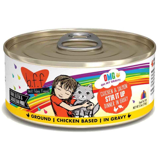 B.F.F. OMG! (Oh My Gravy!) GRAIN & GLUTEN FREE Canned Cat Food 5.5oz - Critter Country Supply Ltd.