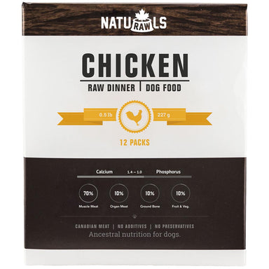 Naturawls 12 x 227g Frozen Raw Dog Dinners - Critter Country Supply Ltd.