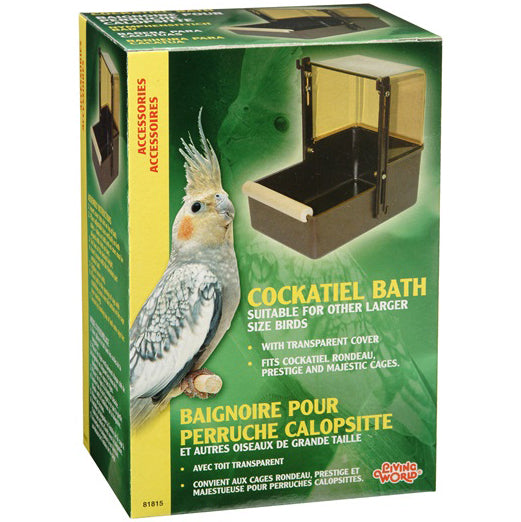 Living World® Cockatiel Bath - Critter Country Supply Ltd.