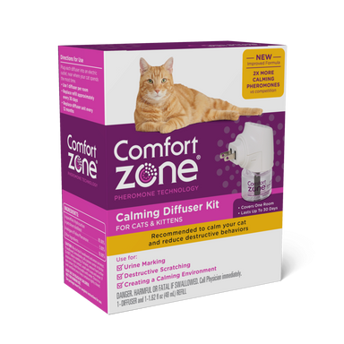 Comfort Zone® Pheromone Technology Calming Diffuser Kit for Cats & Kittens - Critter Country Supply Ltd.
