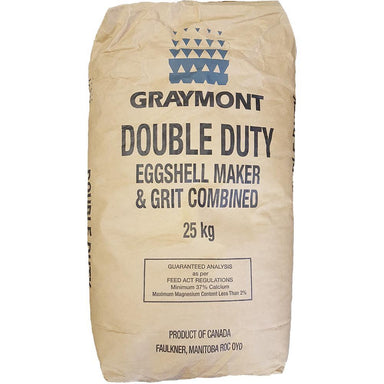 Double Duty Eggshell Maker & Grit Combined 25 KG Bag - Critter Country Supply Ltd.