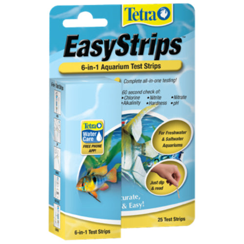 Tetra® EasyStrips™ 6-in-1 Aquarium Test Strips 25PK - Critter Country Supply Ltd.