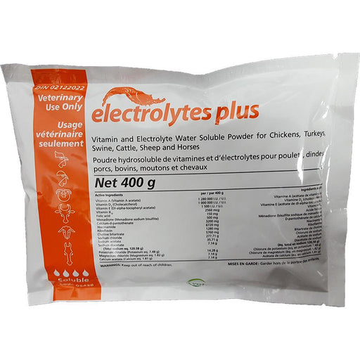 Vetoquinol Electrolytes Plus 400g - Critter Country Supply Ltd.