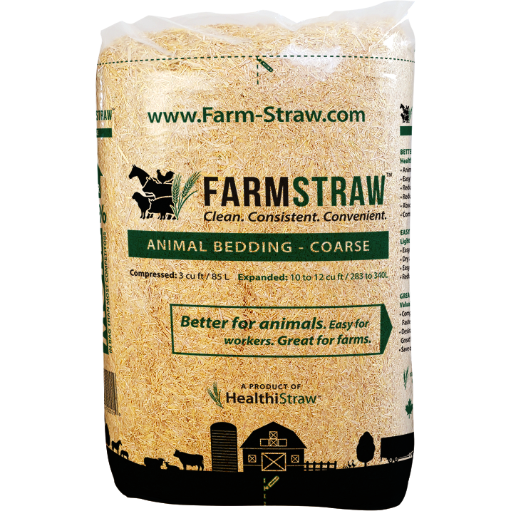 FarmStraw, COARSE Shread 3 cu ft. Bag - Critter Country Supply Ltd.