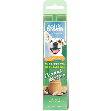 TropiClean® Fresh Breath® Clean Teeth Oral Care Gel - Peanut Butter - Critter Country Supply Ltd.