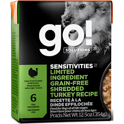 Go! Solutions™ SENSITIVITIES™ Limited Ingredient GRAIN-FREE Wet Dog Food Recipes