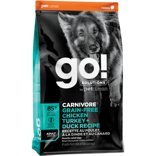 Go! Solutions™ CARNIVORE™ GRAIN-FREE Chicken, Turkey + Duck Adult Recipe - Critter Country Supply Ltd.