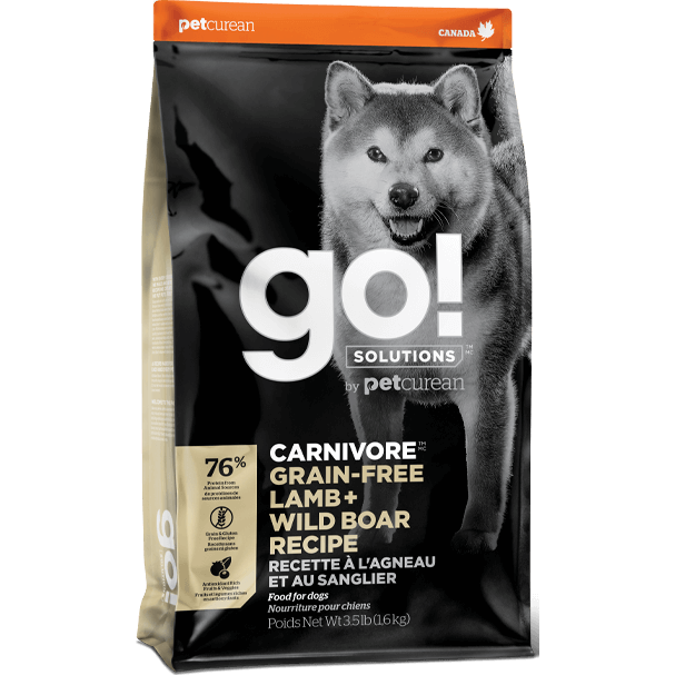 Go! Solutions™ CARNIVORE™ GRAIN-FREE Lamb + Wild Boar Recipe - Critter Country Supply Ltd.