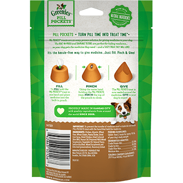 GREENIES™ PILL POCKETS™ Treats for Dogs Real Peanut Butter Flavor Capsule Size