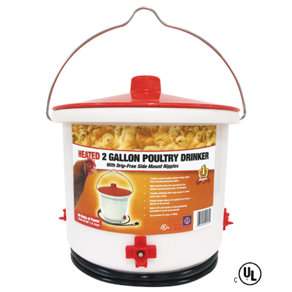 Farm Innovators® Heated 2 Gallon Poultry Drinker