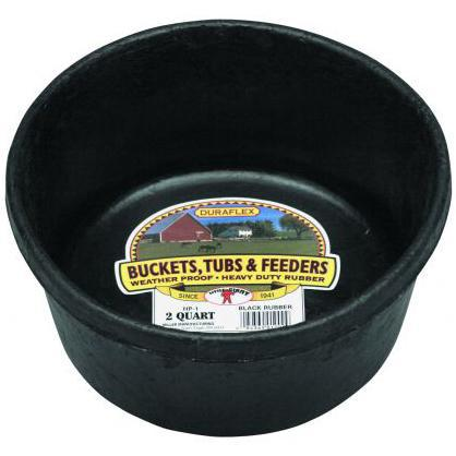 Little Giant® 2 Quart Rubber Feed Pan - Critter Country Supply Ltd.