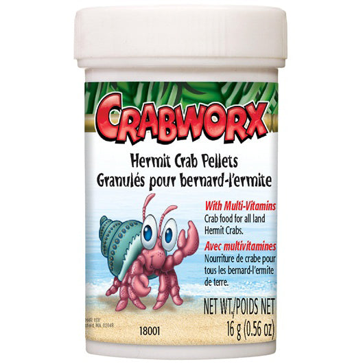 CrabWorx® Hermit Crab Pellets 16g - Critter Country Supply Ltd.