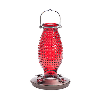 Perky-Pet® Red Hobnail Vintage Hummingbird Feeder - Critter Country Supply Ltd.