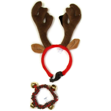 Outward Hound® Holiday Bell Collar and Antler Combo Pack - Critter Country Supply Ltd.