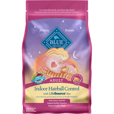 BLUE™ Indoor Hairball Control Chicken & Brown Rice Recipe 7lb - Critter Country Supply Ltd.