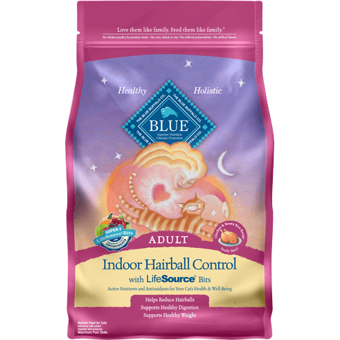 BLUE™ Indoor Hairball Control Adult Cat Chicken & Brown Rice Recipe 7lb