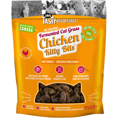 Jay's Tasty Adventures™ The Original Fermented Cat Grass Flavoured Kitty Bits™ - Critter Country Supply Ltd.
