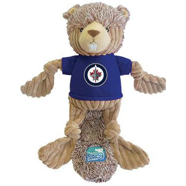 NHL® Squeaky Beaver Winnipeg Jets Pet Toy - Critter Country Supply Ltd.