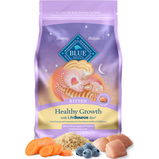 BLUE™ Healthy Growth Kitten Chicken and Brown Rice Recipe 7lb - Critter Country Supply Ltd.