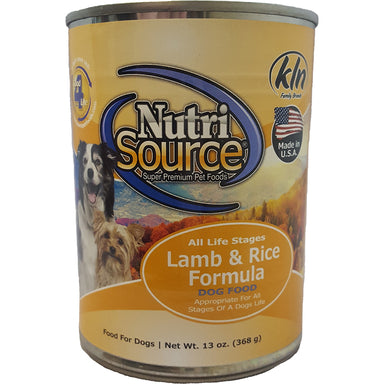 NutriSource® Lamb & Rice Canned Dog Food 13oz - Critter Country Supply Ltd.