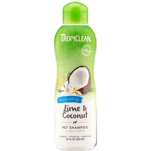 TropiClean® Lime & Coconut (DeShedding) Dog & Cat Shampoo 592ml - Critter Country Supply Ltd.