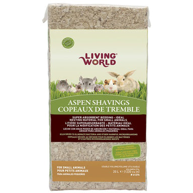 Living World® Aspen Shavings - Critter Country Supply Ltd.