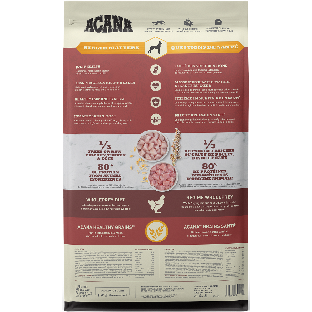 ACANA® Healthy Grains Large Breed Recipe 10.2KG