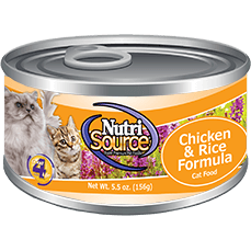 NutriSource® Chicken & Rice Cat Formula 5oz - Critter Country Supply Ltd.