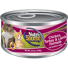 NutriSource® Chicken, Turkey & Lamb Cat and Kitten Formula 5oz - Critter Country Supply Ltd.
