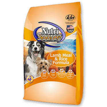 NutriSource® Lamb Meal & Rice Formula Dog Food 30lb - Critter Country Supply Ltd.