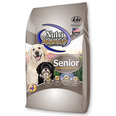 NutriSource® Senior Chicken & Rice Formula Dog Food - Critter Country Supply Ltd.