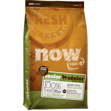 Now Fresh® GRAIN FREE Small Breed Senior Recipe 6lb - Critter Country Supply Ltd.