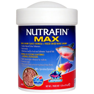 NUTRAFIN® MAX Brine Shrimp Flakes + Freeze Dried Brine Shrimp 35g - Critter Country Supply Ltd.