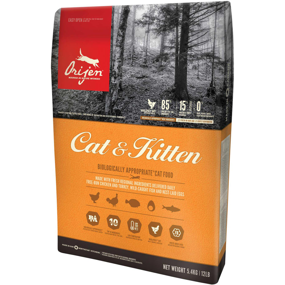 Orijen® CAT & KITTEN Biologically Appropriate™ Cat Food - Critter Country Supply Ltd.