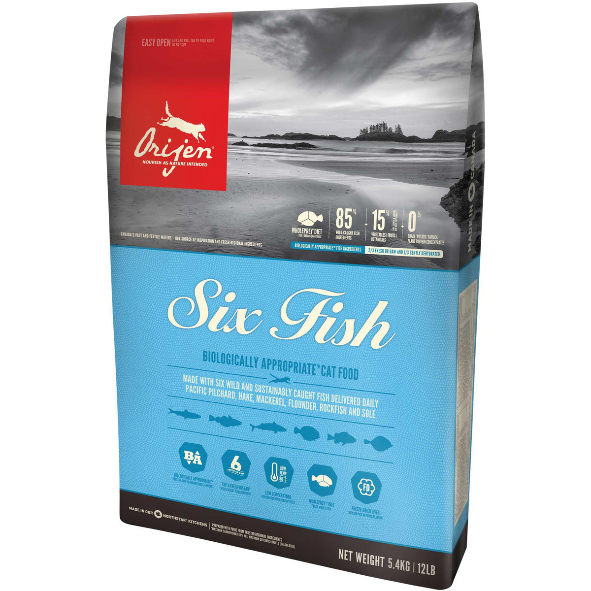 Orijen® SIX FISH Biologically Appropriate™ Cat Food - Critter Country Supply Ltd.