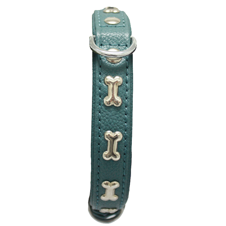 "Angel™ Classic Collection ""Rotterdam Bones"" Soft Leather Dog Collar - Critter Country Supply Ltd."