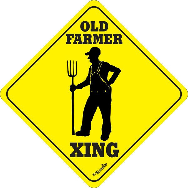 Xing Sign - Old Farmer