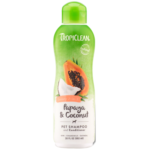 TropiClean® Papaya & Coconut (Luxury 2-in-1) Dog & Cat Shampoo and Conditioner 592ml