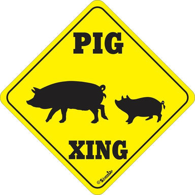 Xing Sign - Pig - Critter Country Supply Ltd.