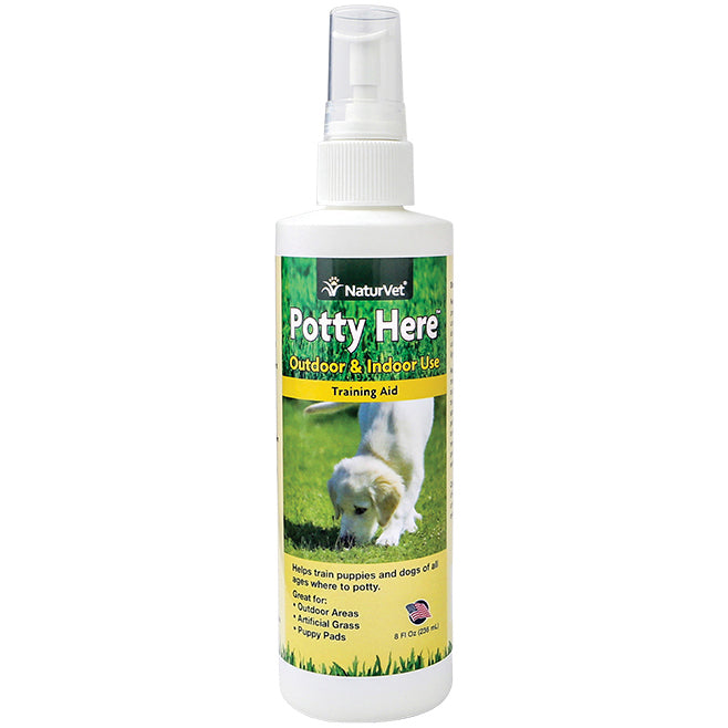 NaturVet® Potty Here™ Training Aid Spray - Critter Country Supply Ltd.