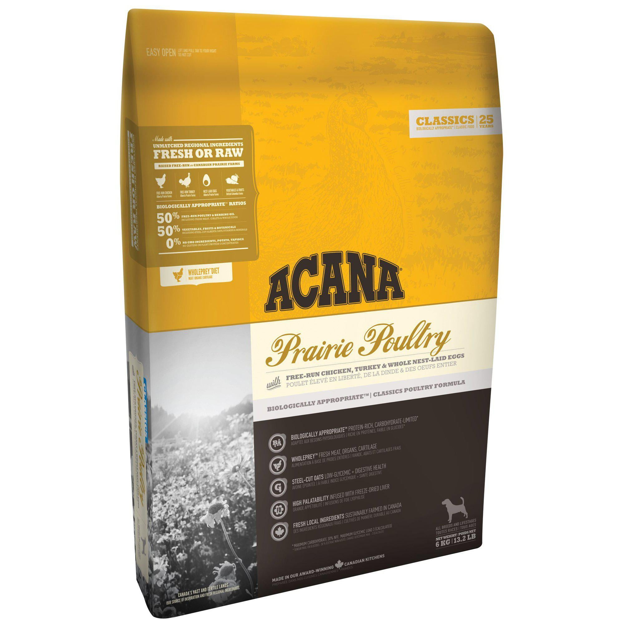 ACANA® CLASSICS Prairie Poultry - Critter Country Supply Ltd.