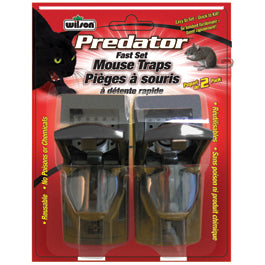 Wilson® Predator™ Fast Set Mouse Traps 2PK - Critter Country Supply Ltd.