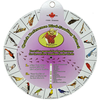 Wilderness Fred's Quick Reference Bird-Feeding Wheel - Critter Country Supply Ltd.
