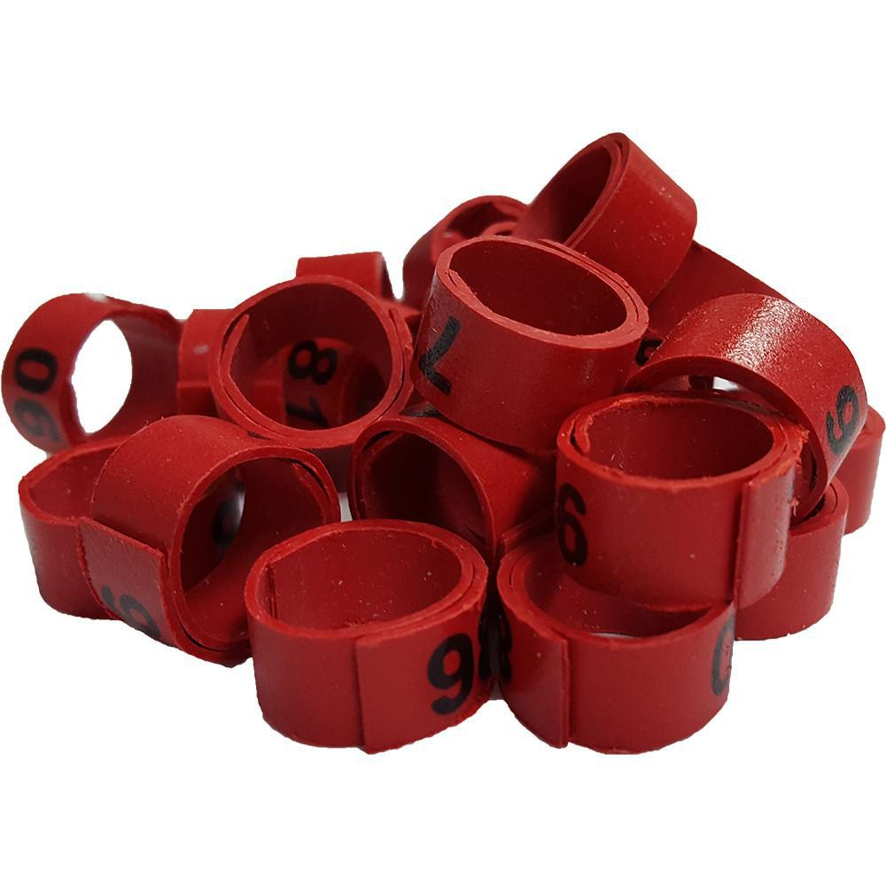 Poultry Leg Bands - Numbered Bandettes 25PK - Critter Country Supply Ltd.