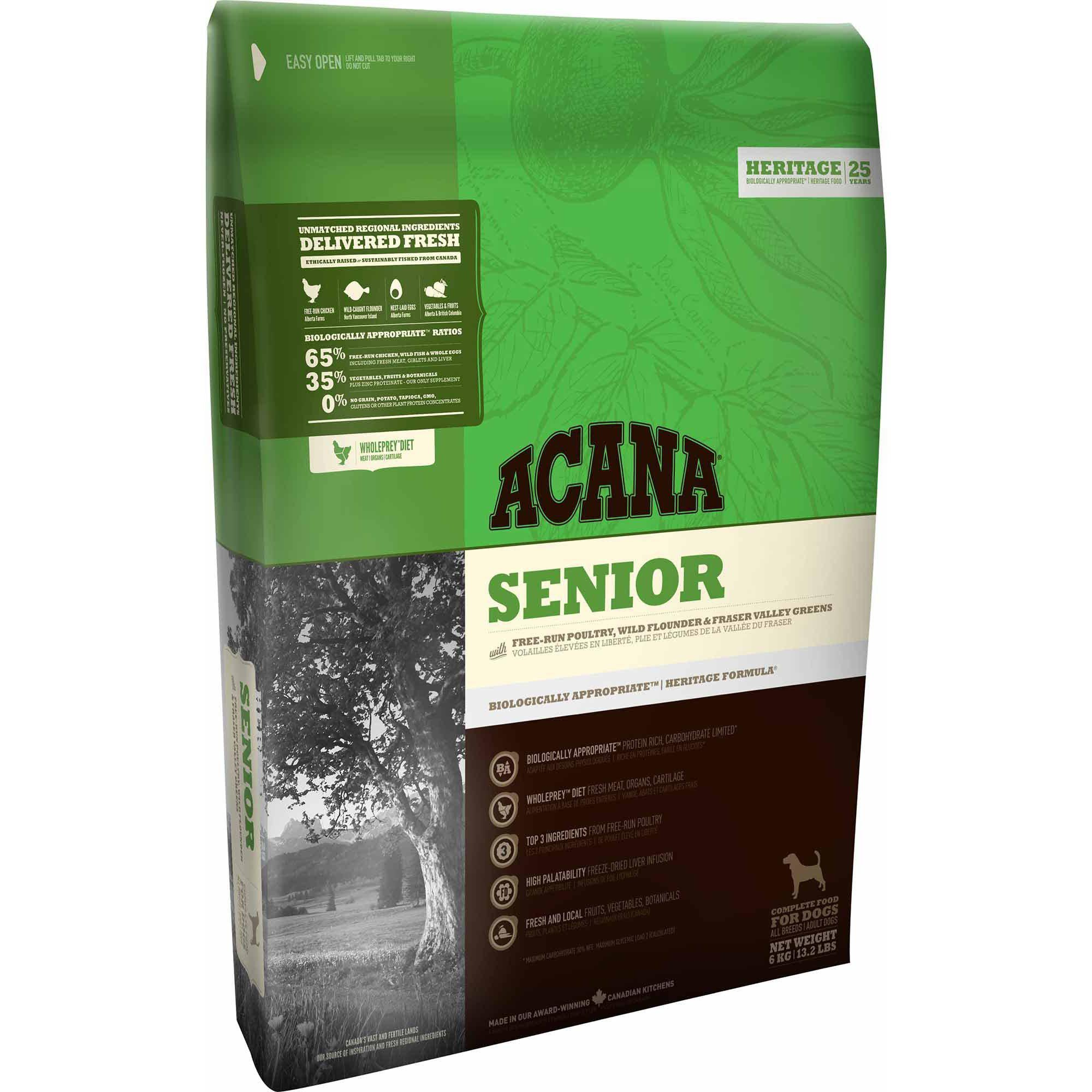 ACANA® HERITAGE Senior - Critter Country Supply Ltd.