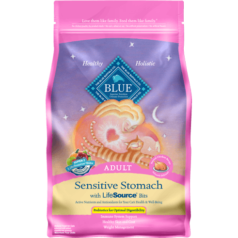 BLUE™ Sensitive Stomach Adult Cat Chicken & Brown Rice Recipe - Critter Country Supply Ltd.